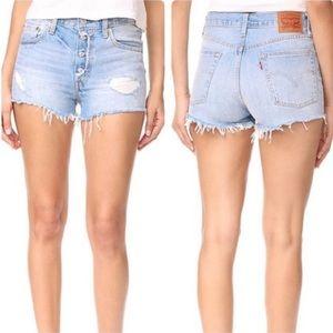 Levi's 501 Cutoff Denim Shorts Size 31